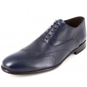 Chaussures hommes à lacet en cuir Bleu marine Belym Richelieu 705