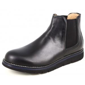 Boots homme Belym en cuir noir 0090
