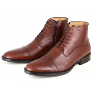 Boots homme Belym de ville en cuir cognac 3097