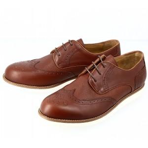 Chaussure homme derby en cuir cognac Belym