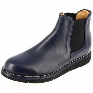 Bottes en cuir pour hommes bleu marine belym 090