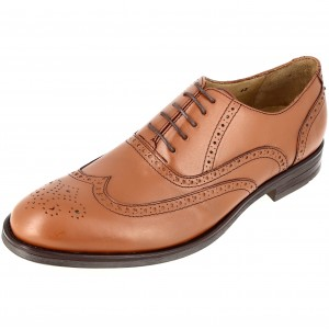 Chaussure homme de bureau richelieu en cuir cognac Belym 3115