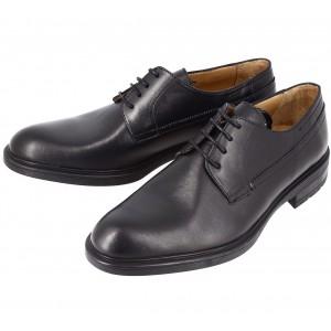 Chaussure homme derby en cuir noir lisse Beylm 2726