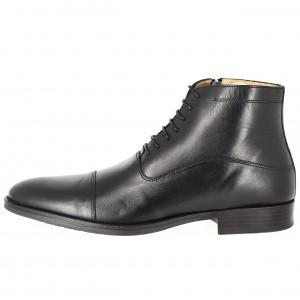 Boots homme de ville en cuir Noir BELYM 397