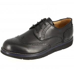 Chaussure homme Derby en cuir Noir Belym 0098