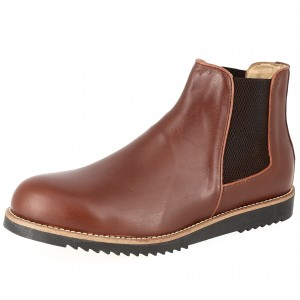 Bottine Homme de ville en cuir Marron Belym 0090