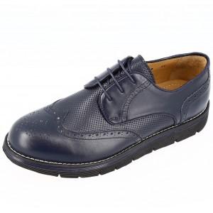 Chaussures Homme Derby en cuir Bleu marine Belym