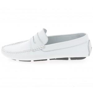 Chaussures Hommes Mocassins en cuir Blanc