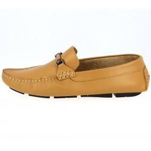 Chaussures Homme Mocassins sports en cuir Moutarde