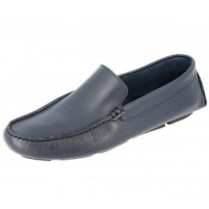 Chaussures Homme Mocassins sports en cuir Bleu marine