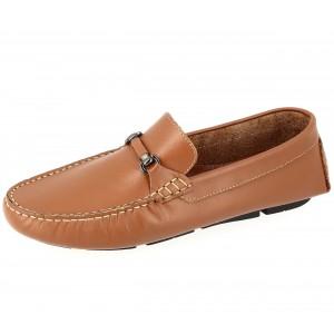 Chaussures Homme Mocassins sports en cuir Cognac
