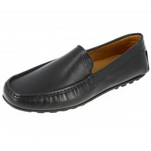 Belym Chaussures Homme Mocassins sports en cuir Noir