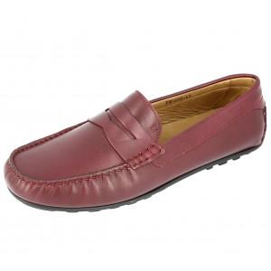 Chaussures Homme Mocassins en cuir Bordeaux
