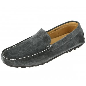 Chaussures Homme Mocassins sport en cuir Gris daim