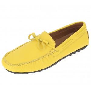 Chaussure Mocassin Homme en cuir jaune Belym