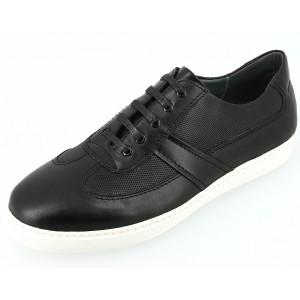 Chaussure homme détente sneaker en cuir noir