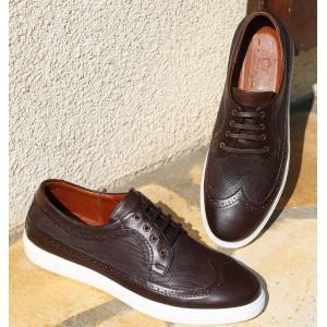 Chaussures Homme Sneaker en cuir Marron BELYM