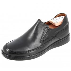 Chaussure Médicale homme Mocassin en cuir noir