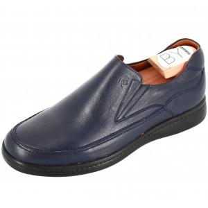 Chaussure Homme Médicale mocassin en cuir bleu