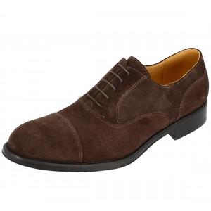 Chaussure Homme Derby et Richelieu Marron en cuir daim