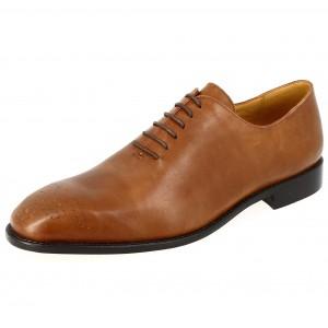 Chaussure Richelieu Homme de ville en cuir Cognac