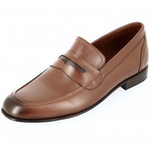 Chaussure Homme Richelieu de ville en cuir Cognac