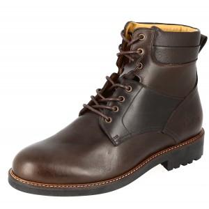 Boots homme a lacets de ville en Cuir Marron