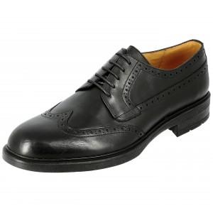 Chaussure homme de ville derby en cuir noir