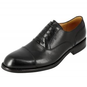 Chaussure homme Derby Richelieu en cuir noir