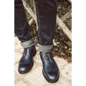 Chaussure homme Derby en cuir Bleu marine