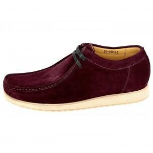 Chaussures Bateaux homme en cuir daim Bordeaux