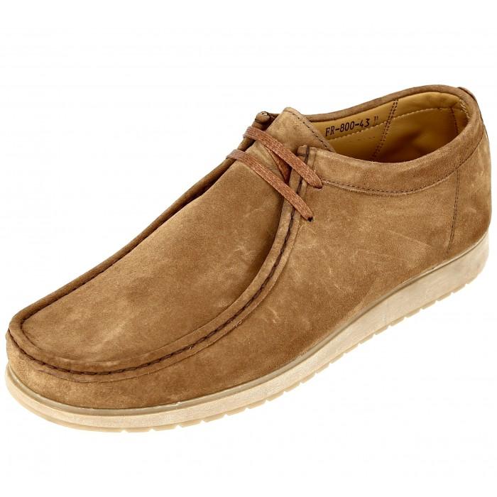 Chaussure Homme Clark en cuir daim Cognac