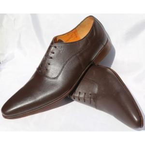 Belym Chaussure Homme Richelieu Cuir Marron 018