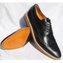 Belym Chaussure Homme Richelieu Cuir Noir