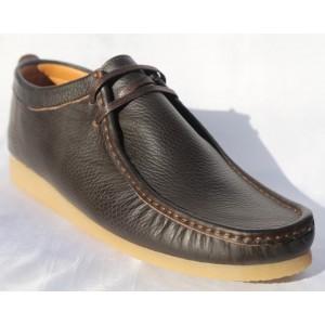 Belym Chaussure Homme Bateaux Cuir Marron