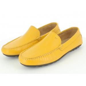 Chaussure Homme De Ville Mocassin En Cuir Jaune