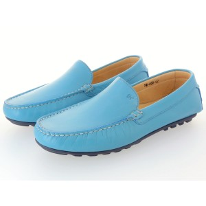Belym chaussure homme de ville mocassin en cuir turquoise