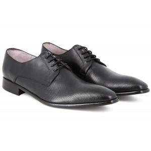 Belym Chaussure Homme Ville En Cuir Noir