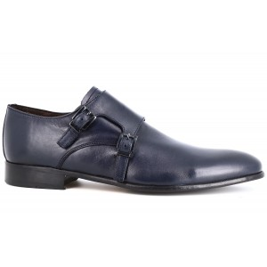 Belym Chaussures homme de Ville en Cuir  Bleu Marine