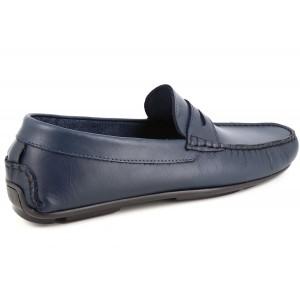 Chaussures Mocassin Homme en Cuir Bleu Marine