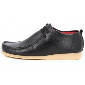 Belym Chaussures Mocassins Bateaux Hommes en Cuir Noir