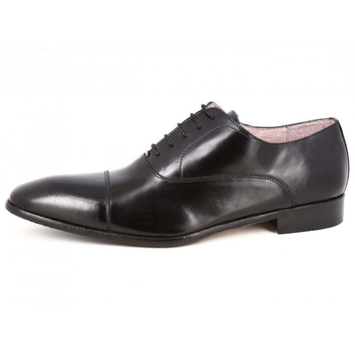 Belym Chaussures Hommes Richelieu en Cuir Noir