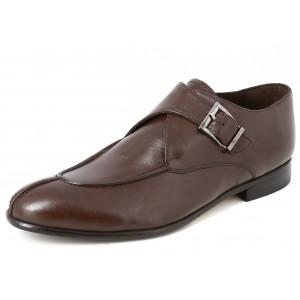 Belym Chaussure Homme de Ville en Cuir Marron