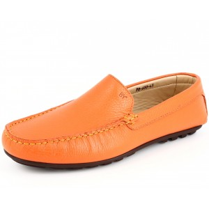 Belym Mocassins Hommes ville en Cuir Orange 600