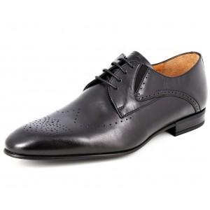 Belym Chaussures hommes ville en Cuir Noir 158